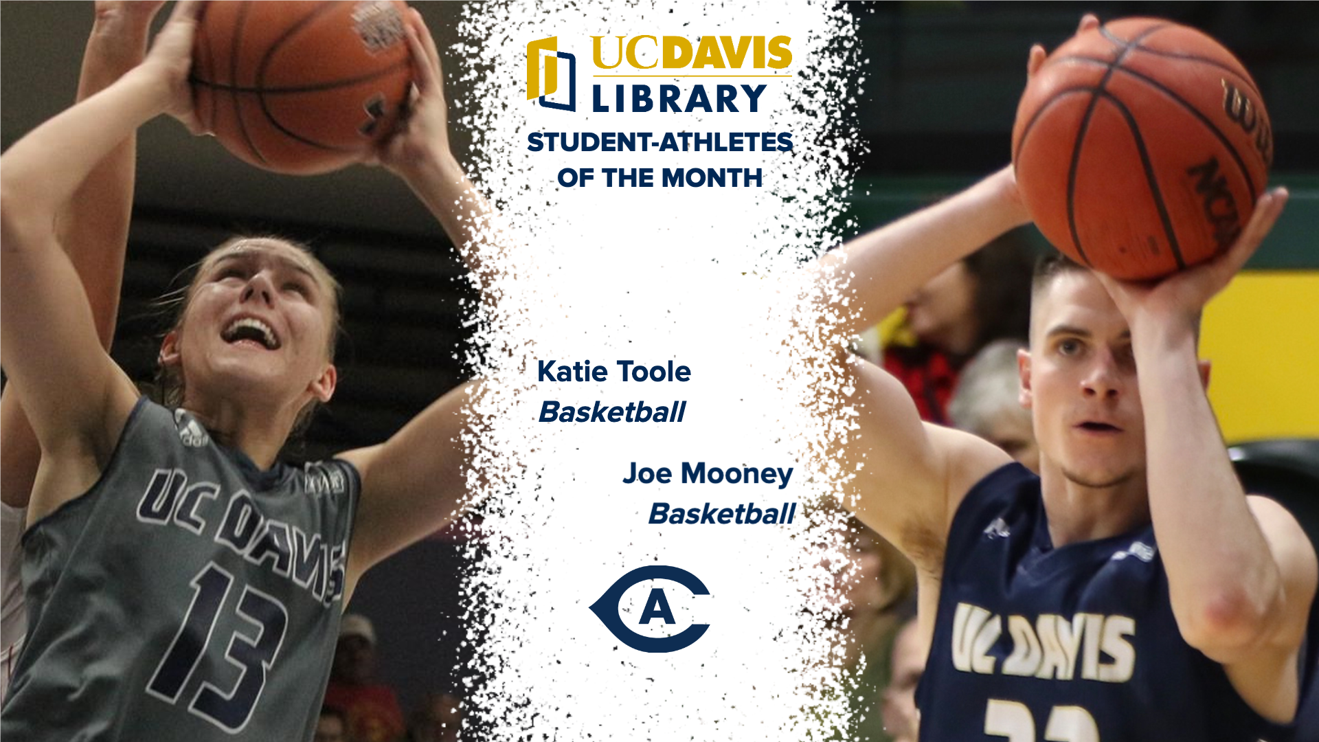 UC Davis Library names Toole, Mooney December Student-Athletes of the Month